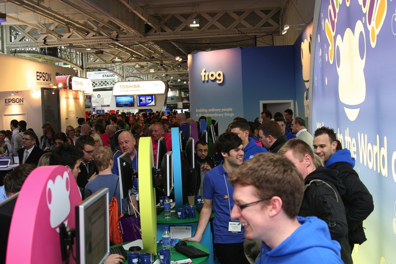 Livewire supporting Frog at BETT