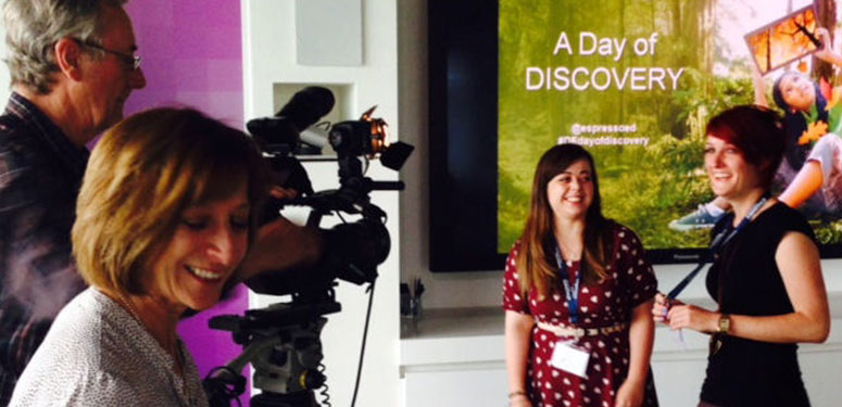 Camera Crew at Discovery Day